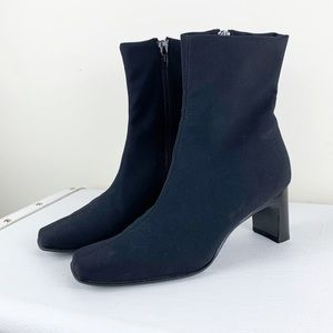 Paul Green  Black Snip-toe Stretch Ankle Booties
